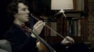 sherlock with violin